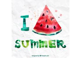 我喜欢水彩画风格的夏天_797484