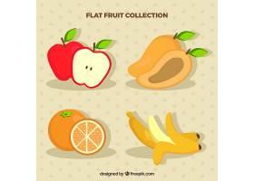 扁平设计的各种美味水果_1109684