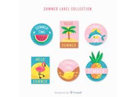 手绘夏季标签系列_4412559