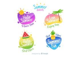 平坦夏季标签集_4712488