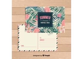 平淡的热带暑假明信片_4766419