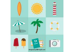 平面设计中的九种夏日物品的分类_1114202