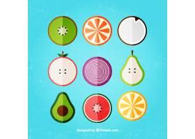 平面设计中的各种水果_886471