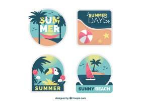 平面设计中的夏日可爱标签系列_2786607