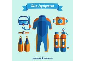 平面设计的潜水设备_892190