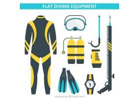平面设计的潜水设备_894840