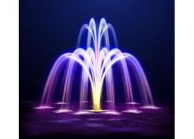 夜景喷泉写实插图_4330585