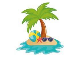带太阳镜配件的沙滩气球_4725375
