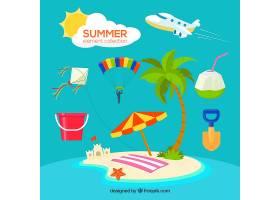 带有海滩元素的夏季系列_2353130