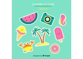 夏日贴纸收藏_4647362