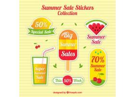 夏季促销的五颜六色的贴纸_903913
