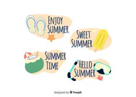 夏季标签系列_4496554