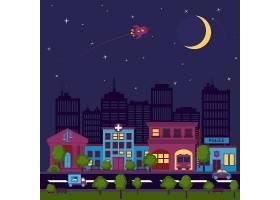 城市景观夜景插图_4643501