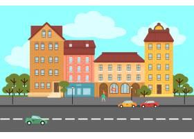 五彩缤纷的夏日城市景观平面概念_9585710