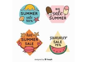 五颜六色的夏季打折标签系列_4497708