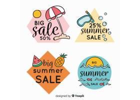 五颜六色的夏季打折标签系列_4497709