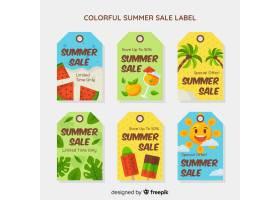 五颜六色的夏季打折标签系列_4507956