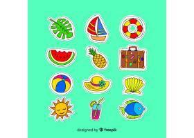 五颜六色的夏日贴纸收藏_4551101
