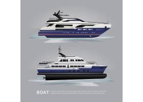 交通工具船旅游游艇旅行矢量插图_8564865