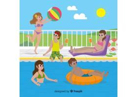 享受夏天的人们_4663011