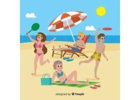 享受夏天的人们_4663024