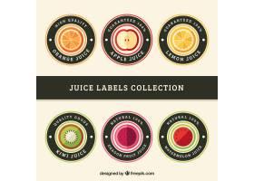 一套六个圆形标签印有不同水果_1113819