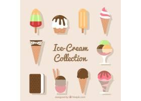 一套扁平甜点和冰激凌_874909