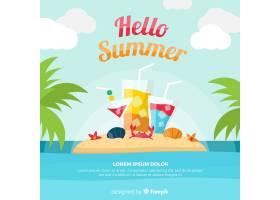 你好夏日背景_4284539