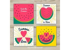 不同西瓜的夏日卡片收藏_2205619