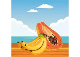 充满异国情调的热带水果图标卡通_4792802