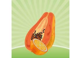 充满异国情调的热带水果图标卡通_4792830