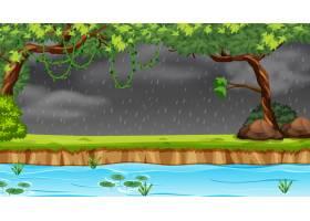 在森林里下雨_4564815