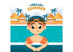你好夏日插图_8345220