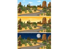 一天中不同时段的沙漠自然景观_11829848