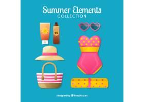 一套平坦款式的夏装和元素_2164758