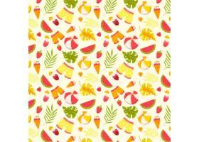 短裤和水果的夏季图案_9243350