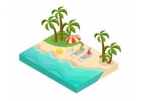 等长退休人员的暑假概念退休人员躺在热带_10055401