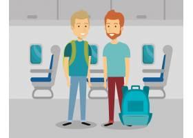 飞机上的男性旅行者_5154073