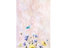 粉彩画布上的花朵_4557556
