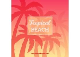 美丽日落的热带天堂海滩_2730521