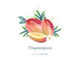 水彩芒果插图_4420944