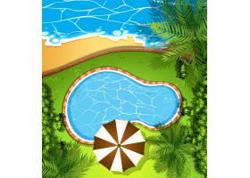海景和游泳池_4932647