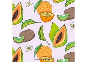 手绘热带水果图案_4410334