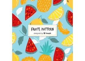 手绘热带水果图案_4410335