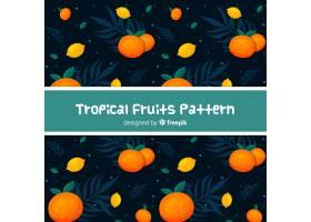 手绘热带水果图案_4410346