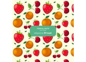 手绘热带水果图案_4410348