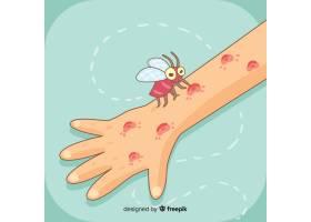 手绘蚊子叮咬组合物_3076286