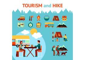 旅游和徒步旅行信息图表_2869009