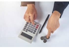 财务会计概念在办公桌前工作的商务女性_7365399