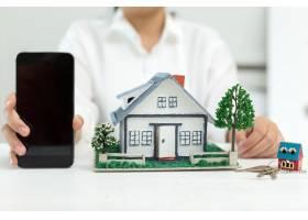 有房型和电话的房地产经纪人_5519373